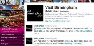 Visit Birmingham: promozione turistica